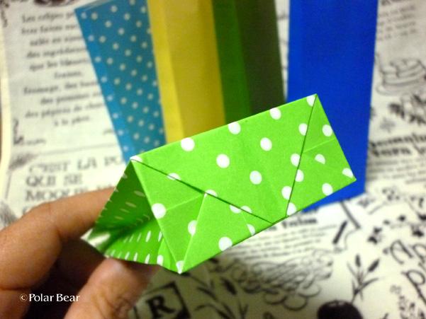 折り紙でミニ紙袋