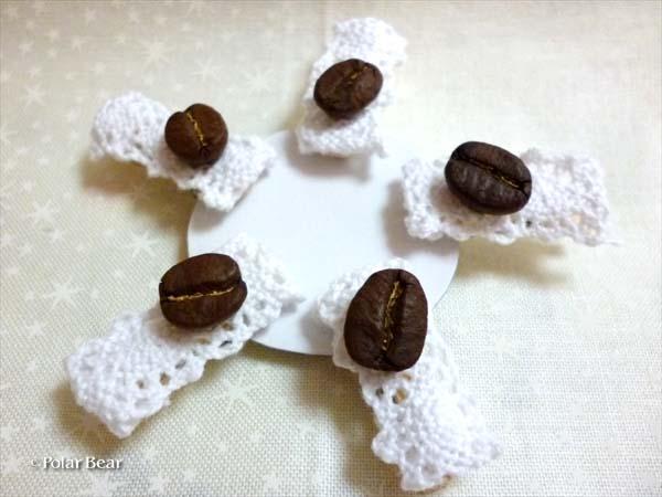 珈琲豆のクリップ