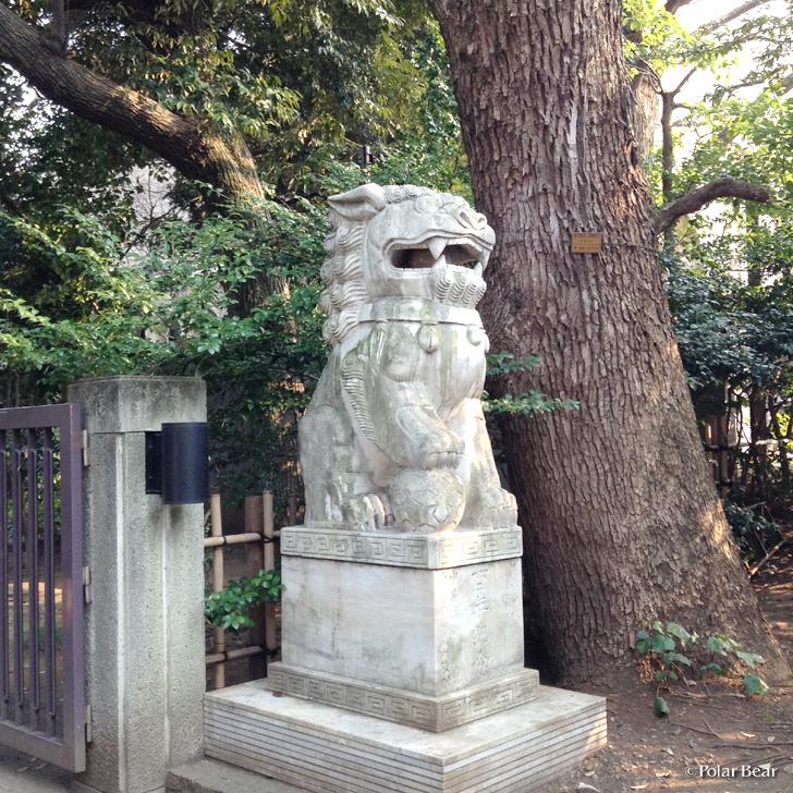 早稲田大学 中華民国獅子像